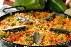 Receita de Paella prática diferente em receitas de salgados, veja essa e outras receitas aqui!