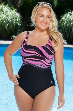 Women's Plus Size Swimwear TYR Fantasia Aqua Controlfit Swimsuit  Always for Me  Price:$48.00 In Stock