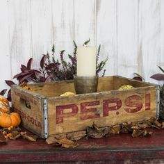 Nothing makes seasonal decorating easier than vintage wooden crates. In fact, decorating in general is easy with vintage crates. They make excellent storage, Vintage Wooden Crates, Vibrant Colors, Colours, Shabby Chic Style, Uk Fashion, Pepsi, Seasonal Decor, Toy Chest, Indoor