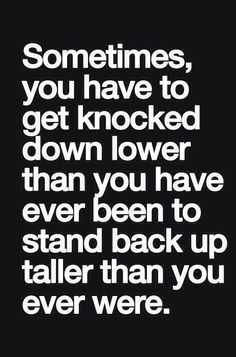 Down doesn't have to mean out... Get back up, learn, and trust God.  #GetBackUp