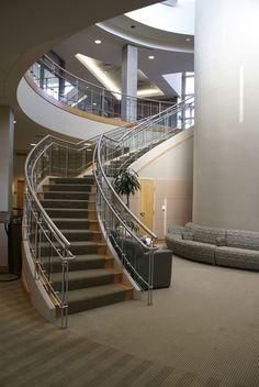 Interior:Deep Indoor Stair With Iron Hand Rail Idea Interior Design with Modern Staircase Design Ideas