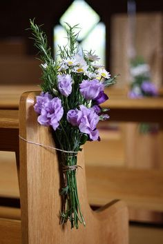 Wedding Pew Ends ~ Church Flowers (by Passion for Flowers)