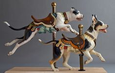 Beautiful wood carved carousel, by artist Tim Racer. - Imgur