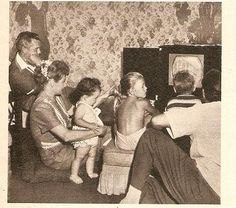 The Ricardo family watching tv.