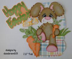 listed on ebay...danderson651 Easter, Bunny, Basket, Carrots, Paper Piecing, Scrapbooking, Borders, Albums facebook - danderson651 paperdesignz.com