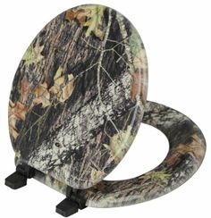 Novelty & Unique Toilet Seats.  Magnolia Camouflage Mossy Oak Break Up Pattern Toilet Seat. Find at: http://goldmedal100.com/noveltytoilet.htm