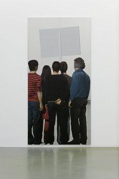 "(A) Tableau miroir de Michelangelo Pistoletto, ""Manifestazione"" #UneSource"