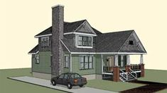 Home Plan HOMEPW77039 - 1911 Square Foot, 4 Bedroom 2 Bathroom Craftsman Home with 0 Garage Bays | Homeplans.com