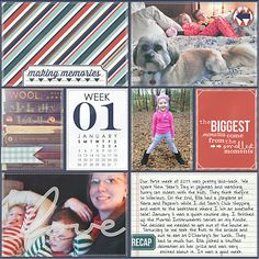 Layout by Nikki: 365Unscripted: Slip Ins by Traci Reed Pocket Life: January Collection by Traci Reed DJB: Journal Your Life by Darcy Baldwin  Calendar Card b...