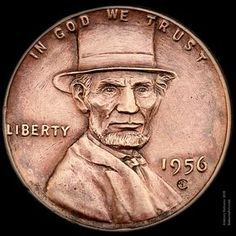 """Lincoln's Top Hat"" wheat penny engraved by Aleksey Saburov. ""Lincoln& Top Hat"" wheat penny engraved by Aleksey Saburov."