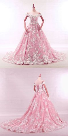 blush wedding dress,pink wedding dress,ball gowns wedding dress,lace wedding dress,wedding dresses 2018,W906
