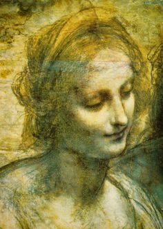 Leonardo da Vinci - Close up of the Virgin and Child with Saint Anne and Saint John the Baptist, 1500.