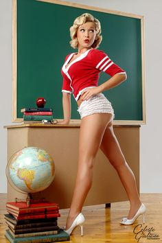 Naughty blonde teacher