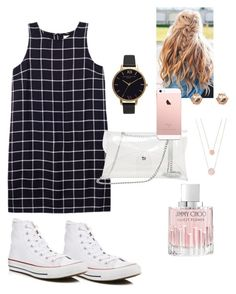 """""""Untitled #35"""" by lovableln on Polyvore featuring Olive + Oak, Converse, Olivia Burton, Jimmy Choo, River Island and Michael Kors"""