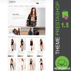 Vêtements, vente en ligne: robes, jupes, vestes, manteaux, blazer, pantalons, chemises, t-shirt,  pulls, mode, site e-commerce  - Thème PrestaShop 1.5