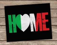 Items similar to Italy Flag Home Print Italian Flag Poster Typography Red White Green Italian Home Decor Digital Premium Print on Etsy Italian Home Decor, Italian Theme, Italian Life, Italian Style, Best Of Italy, Italian Quotes, Learning Italian, Southern Italy, Photography Logos