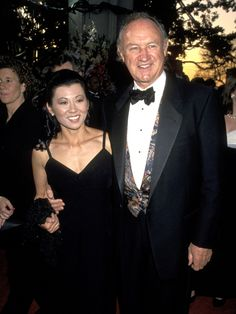 Gene Hackman With Betsy Arakawa at the 66th Annual Academy Awards in Los Angeles on March 21, 1994