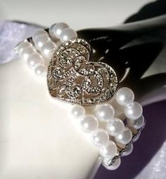 heart bracelet, sweet gift for a bridesmaid