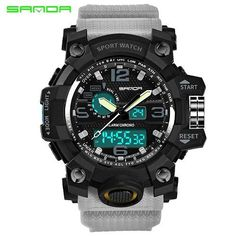 2017 New Shock Men Sports Watch Military Army Analog Digital LED Electronic Quartz Wristwatches 50M Waterproof relogio masculino