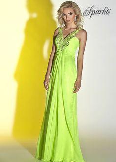 Latest Design Lime Green Prom Dress 2015 Halter Neck Crystal Beaded  Maternity Dress To Party Chiffon Vestido De Festa d95f25a05920