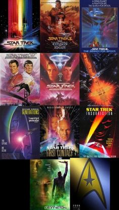 Star Trek Movies are always a good time. I grew up with Captain Picard and Captain Kirk. While I adore the classic movies, I'm excited to see the future Star Trek movies! Star Trek 2009, Star Trek Tv, Star Trek Series, Star Wars, Sci Fi Movies, Movie Tv, Trek Movie, Star Trek Posters, Movie Posters