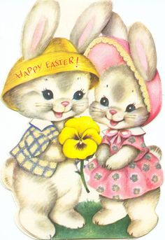Vintage Easter bunny card from Zero Discipline on Flickr