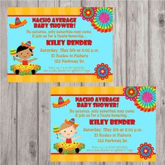 Digital Fiesta Girl Baby Shower or 1st Birthday Invitation w/ or w/out a photo by spencervillejunction, $10.00