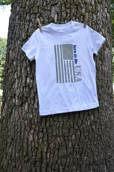 Patriotic Fourth of July shirt - DIY with the Silhouette - fabric ink and heat transfer