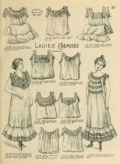 1898 Vintage Fashion - H.O'Neills Spring & Summer Catalogue Page 29 - Victorian Ladies Chemises | Flickr - Photo Sharing!
