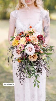 Cascading Bridal Bouquets, Fall Wedding Bouquets, Floral Wedding, Sarah Photography, August Wedding, Zinnias, Bridal Style, Floral Design, Floral Wreath
