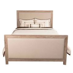 Orient Express Furniture // Eden Upholstered Bed - Stone Wash   Natural