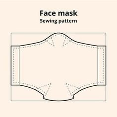 Face mask sewing pattern | Free Vector Easy Face Masks, Diy Face Mask, Diy Mask, Sewing Patterns Free, Free Sewing, Pattern Sewing, Sewing Hacks, Sewing Tutorials, Video Tutorials