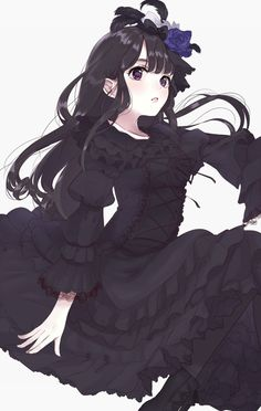 A online pace for discussion about anime/manga related things around the world Manga Girl, Manga Anime, Manga Kawaii, Kawaii Anime Girl, Anime Art Girl, Anime Girls, Dark Anime, Anime Black Hair, Chibi