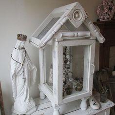 Glass showcase display case wood framed ornate by AnitaSperoDesign