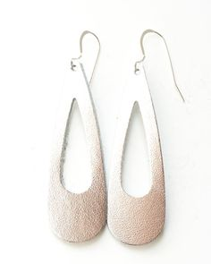 Silver Simplicity Leather Earring