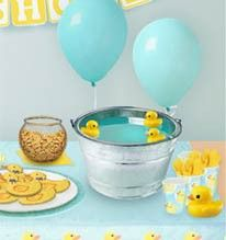 Baby shower... Blue punch with rubber ducks
