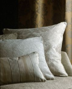 Holland Park fabric collection cushions, by Blendworth