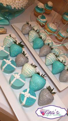 Tiffany blue Oreos and Strawberries