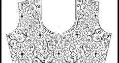 Top 3 latest hand embroidery all over blouse design patterns pencil sketch on tracing-paper/maggam work designs on paper/aari work blouse design image Blouse Designs Silk, Designer Blouse Patterns, Bridal Blouse Designs, Design Patterns, Hand Work Embroidery, Types Of Embroidery, Machine Embroidery Designs, Embroidery Patterns, Aari Work Blouse