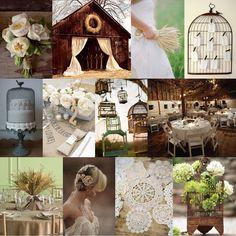 Rustic Bird Cages, Rustic Wedding inspiration