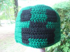 Crocheted Creeper Hat by SETXNerdery on Etsy