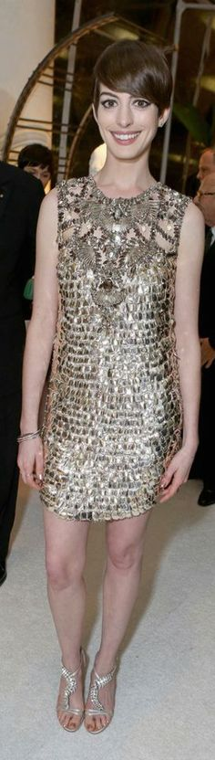 Anne Hathaway looking STUNNING in Gucci.  Styled by Rachel Zoe 2013, tailored by myself and the team at Christy Rilling Studio.