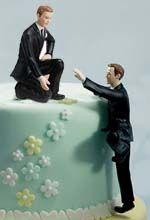 Gay wedding cake figurines are so helpful!