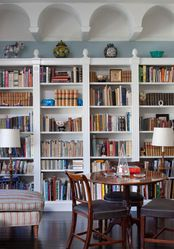 Great shelves and ceiling molding