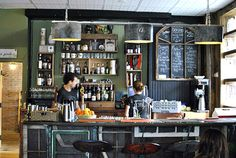 The bar @FARMHOUSE tavern toronto - featuring the best of Ontario produce