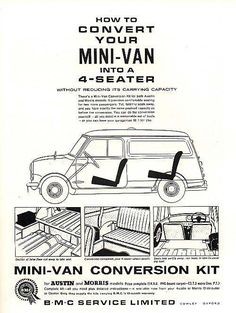 Mini Van , Austin/Morris - 4SEATER KIT