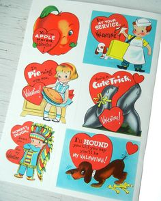 American greetings vintage valentines day httpsfacebook 36 vintage unused childrens kids valentine cards boys girls animals american greetings nos 1960s m4hsunfo Gallery