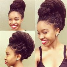 Top 16 Marley Twists Hairstyles - Naturally Me! Marley Twists, Marley Twist Styles, Marley Twist Hairstyles, Braided Hairstyles, Cool Hairstyles, Protective Hairstyles, Afro, Long Natural Hair, Going Natural
