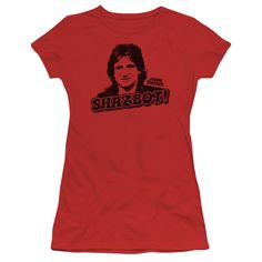 """Checkout our #LicensedGear products FREE SHIPPING + 10% OFF Coupon Code """"Official"""" Mork & Mindy / Shazbot - Short Sleeve Junior Sheer - Mork & Mindy / Shazbot - Short Sleeve Junior Sheer - Price: $34.99. Buy now at https://officiallylicensedgear.com/mork-mindy-shazbot-short-sleeve-junior-sheer"""