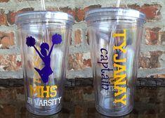 Custom High School Cheerleader Tumbler 16 ounce  by VinylGifts, $10.00 fundraiser idea?